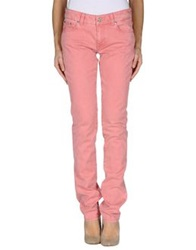 Pt0w Denim Pants Pastel Pink