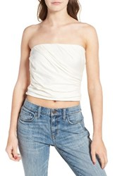 Hinge Women's Draped Tube Top Ivory Cloud