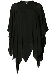 Plein Sud Jeans Cape Blouse Black