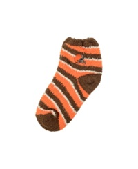 For Bare Feet Cleveland Browns Sleep Soft Candy Striped Socks