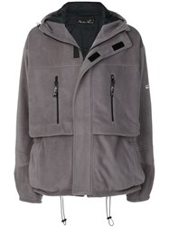 Martine Rose Oversized Hooded Jacket Grey