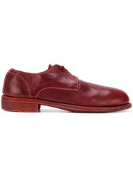 Guidi Lace Up Loafers Red