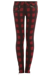 Rag And Bone The Plaid Skinny Jeans