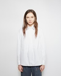 Zucca Collared Cotton Blouse White
