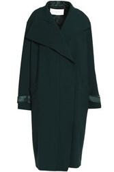 Amanda Wakeley Satin Trimmed Cady Coat Forest Green