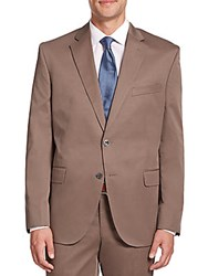 Saks Fifth Avenue Solid Cotton Sportcoat Khaki