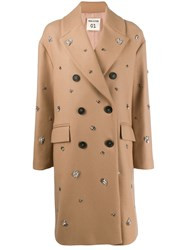 Semicouture Embellished Double Breasted Coat 60