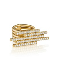 Carelle 18K Gold 5 Diamond Sticks Ring