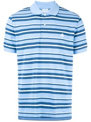 Brooks Brothers Striped Polo Shirt Blue