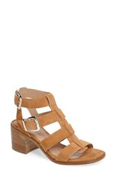 Charles By Charles David Women's Bronson Block Heel Sandal Tan Suede