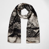 River Island Womens Black Spliced Animal Print Scarf