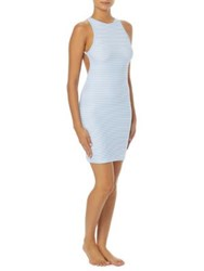 Vince Camuto Binding Trim Open Back Coverup Dress Lagoon