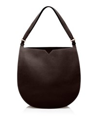 Valextra Weekend Small Leather Hobo Bag Brown