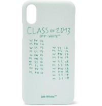 Off White Printed Iphone X Case Green