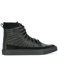 Damir Doma Hi Top Lace Up Sneakers Black