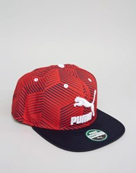 Puma Colourblock Snapback Cap Red