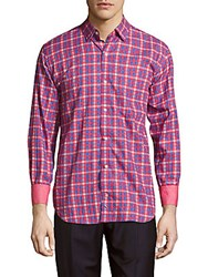 Tailorbyrd Classic Fit Cotton Shirt Red