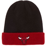 The Elder Statesman X Nba Men's Chicago Bulls Logo Cashmere Watchman's Cap Black