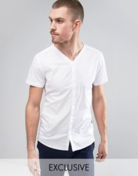 Noak Smart Baseball Slim Fit Shirt White