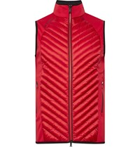 Bogner Owen Quilted Shell And Fleece Back Stretch Jersey Gilet Red