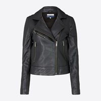 Levi's Black Leather Moto Jacket