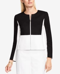 Vince Camuto Cropped Moto Jacket Rich Black