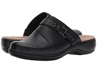 Clarks Leisa Sadie Black Leather Clog Shoes