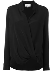 3.1 Phillip Lim Wrap Blouse Black