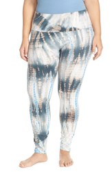 Plus Size Women's Hard Tail Roll Waist Tie Dye Leggings