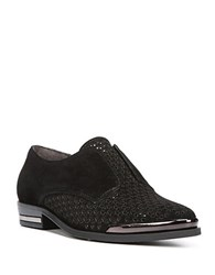 Fergie Inca Suede Punchout Loafers Black