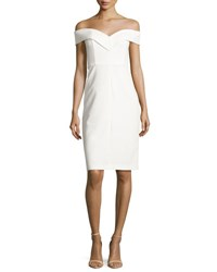 Alice Olivia Luana Off The Shoulder Sheath Dress White