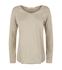 Lamberto Losani Scoop Neck Jersey T Shirt Female Neutral