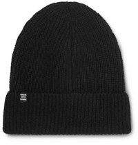 Herschel Cardiff Ribbed Cashmere And Wool Blend Beanie Black