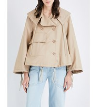 See By Chloe Cotton Canvas Jacket Straw