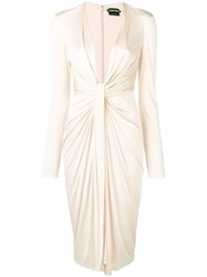 3a48604628d Tom Ford Jersey Cocktail Dress Neutrals