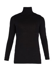 Vetements Inside Out Roll Neck Top Black