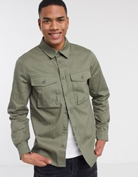 Solid Hoban Overshirt In Green