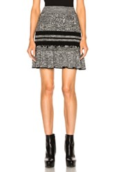 Alexander Mcqueen Peplum Mini Skirt In Black