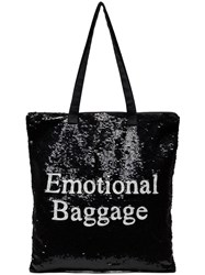 Ashish Emotional Baggage Sequin Tote Bag Black