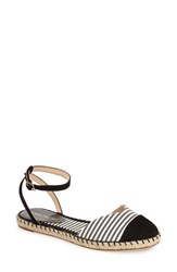 Women's Ivanka Trump 'Rion' Ankle Strap Espadrille Flat Black Suede