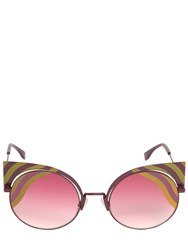 Fendi Removable Cat Eye Printed Sunglasses