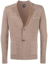 Eleventy Two Button Blazer Brown