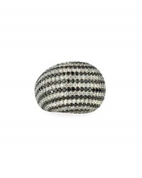 Diana M. Jewels 18K White And Black Diamond Dome Ring 7.21Tcw