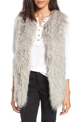Hinge Women's Faux Fur Vest Grey Light Combo