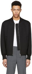 Neil Barrett Black Sweatshirt Bomber Jacket