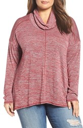 Lucky Brand Plus Size Women's Cowl Neck Tunic Rio Red