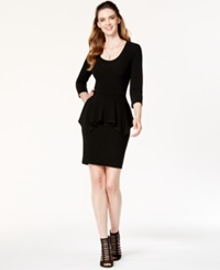 Karen Kane Scoop Neck Peplum Sweater Dress