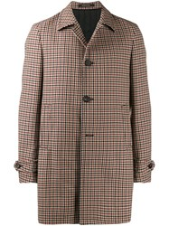 Tagliatore Checked Coat Neutrals