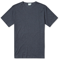 Sunspel Q82 Crew Neck Tee Charcoal Melange