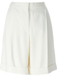 Alexander Mcqueen High Waisted Shorts White